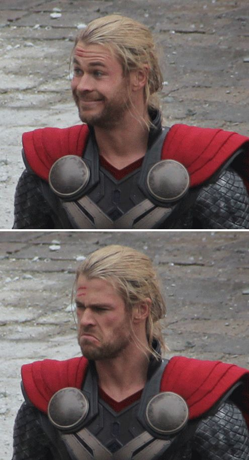 Thor has the greatest facial expressions                                                                                                                                                                                 More