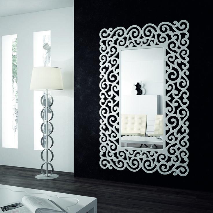 Las 25 mejores ideas sobre espejos de pared decorativos for Espejos plateados modernos