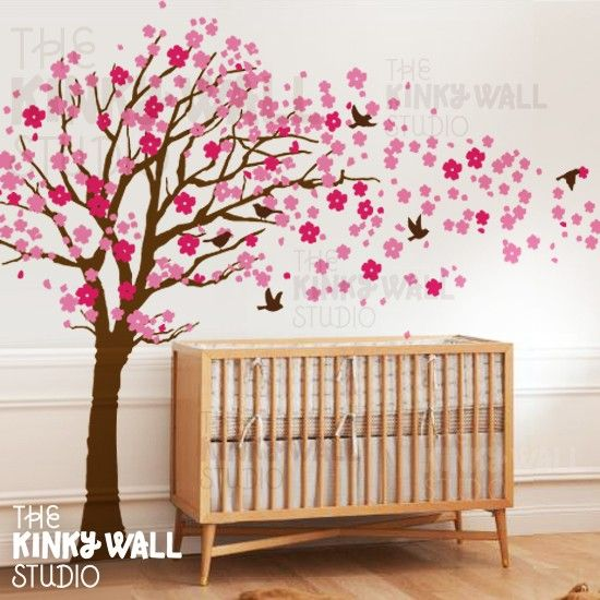 Children Wall Sticker Wall Decal VInyl tree decal - Cherry Blossom Tree