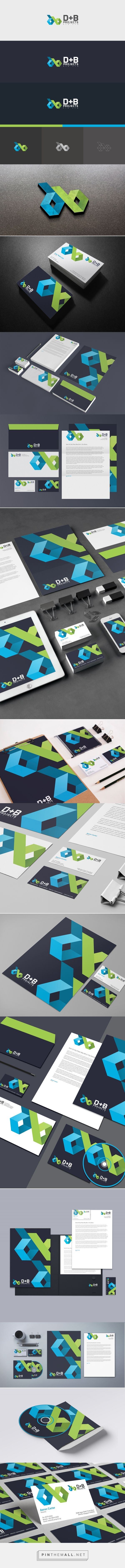B+D Projects branding design by Rayz Ong
