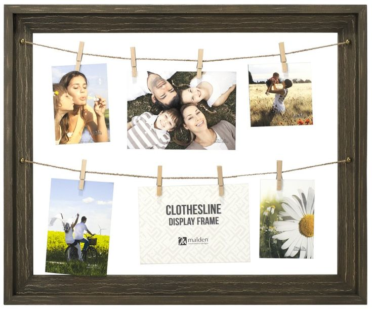 Shutesbury Rustic Clothesline Display Picture Frame