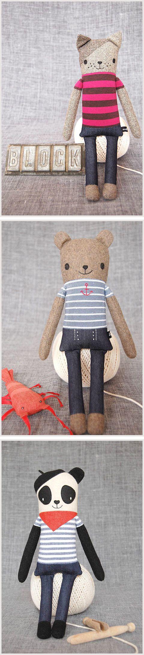 Cute handmade softies. Great Christmas gift ideas | kid independent