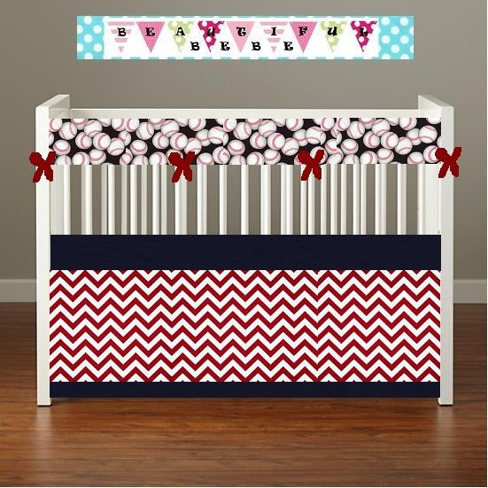 Crib Bedding Red And White