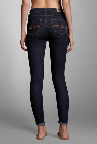 Abercrombie Super High Rise Jeggings~~~these are super pretty!