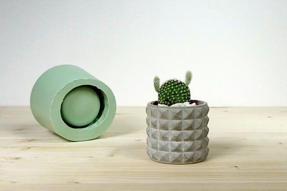 Concrete planter mold, Geometric concrete mould, Silicone concrete mold, Small planter mold, Concrete cup mold