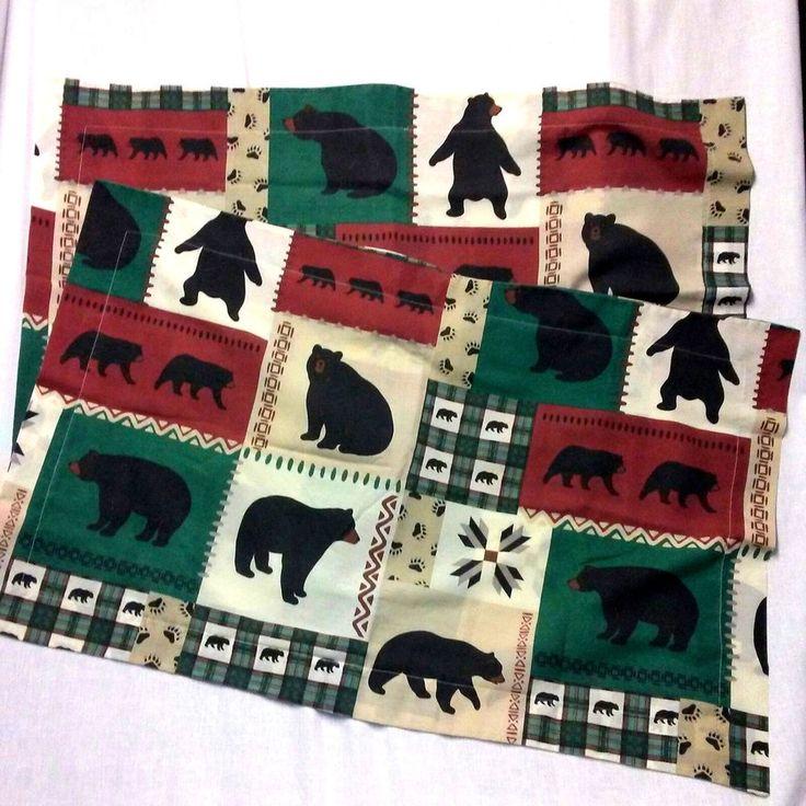 "2 PC. Queen King Big Black Tribal Bear Paw Bed Pillow Sham 40"" X 26""  Pillowcase #Springs #Southwestern"