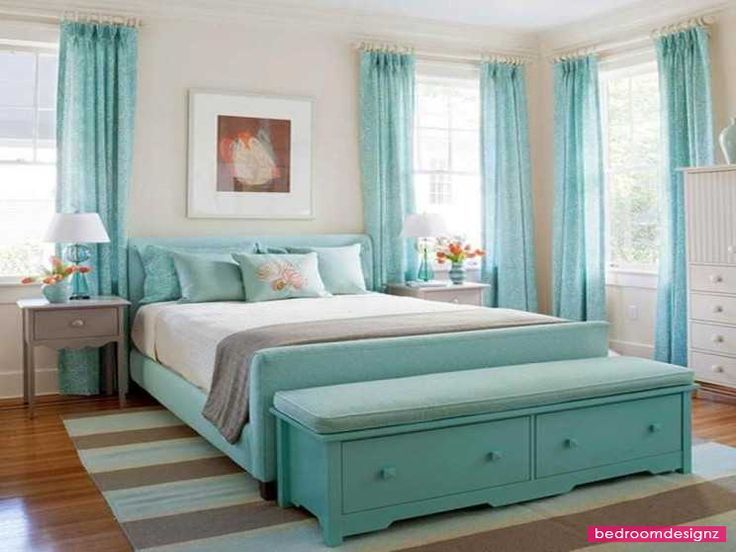 White walls with teal accents