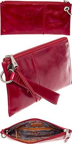 VIDA Leather Statement Clutch - Imperial forest by VIDA gkYEtZlwW