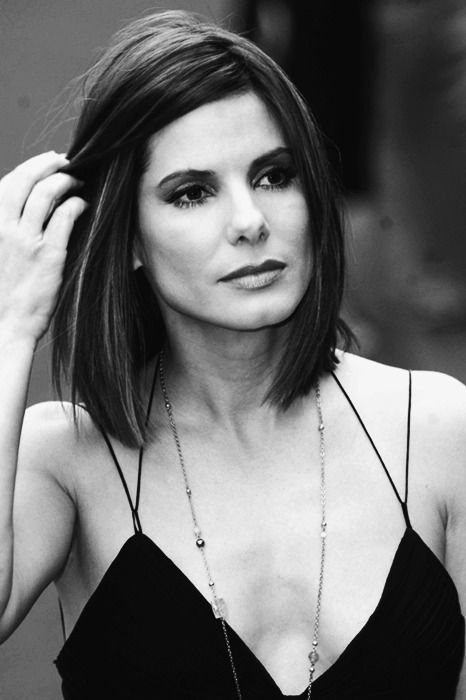 Sandra Bullock: I love this hair. Even the highlights...I'm thinking it might be my next style!