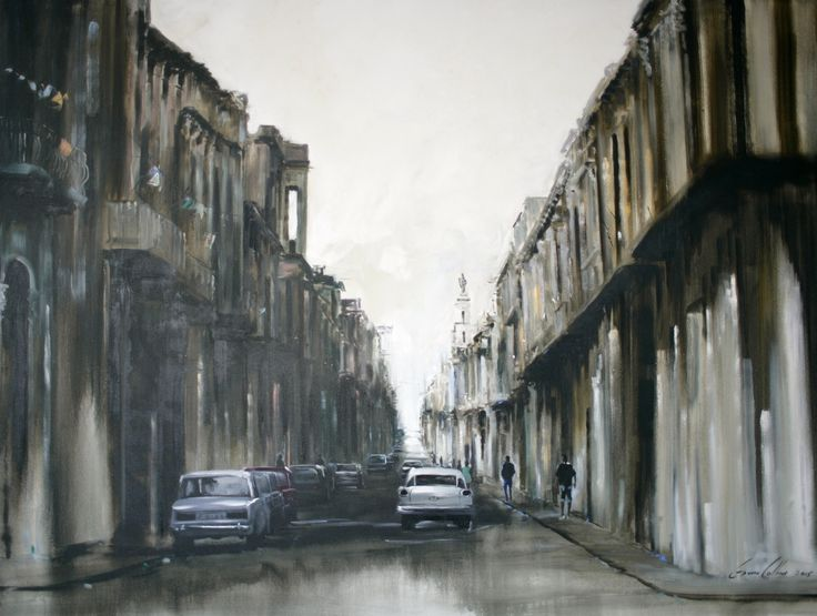 "Gavin Collins Paintings Title: ""Downtown Havana"" Size: 2m x 1,5m"