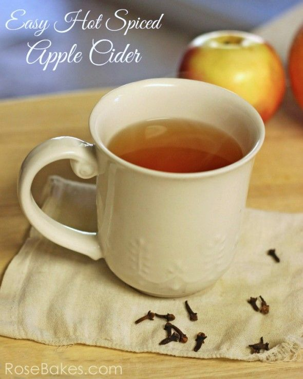 Hot Spiced Apple Cider #recipe #apples #christmas