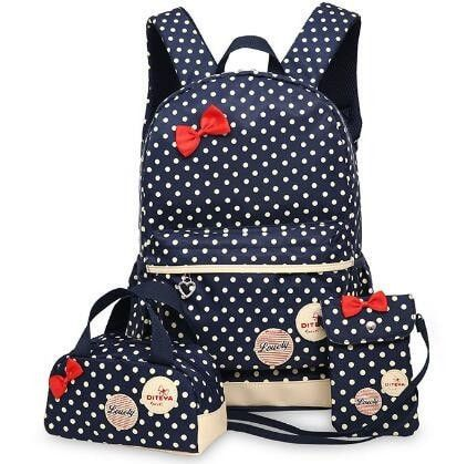 Material : Nylon Size Big Backpack :27X12X42CM