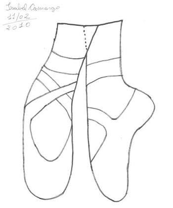 Resultado de imagem para molde sapatilha bailarina