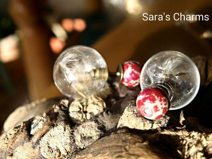 Doppelohrstecker Pusteblumensamen bronze von Sara´s Charms auf DaWanda.com