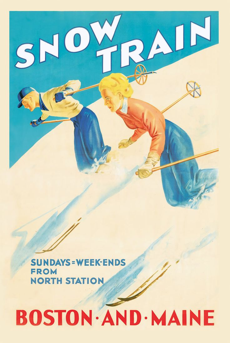 Poster for the Boston & Maine Snow Train.