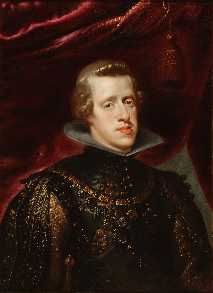Taller de Pedro Pablo Rubens. Retrato de Felipe IV con traje brocado (rey de España de 1621 a 1665), 1632