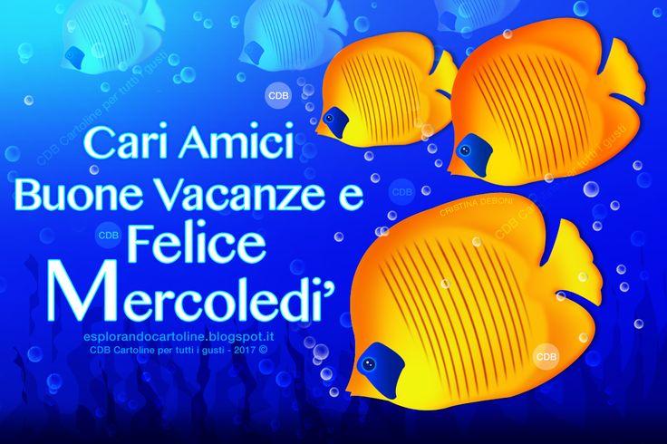 CDB CARTOLINE Compleanno per Tutti i Gusti! : Cartolina - Cari Amici Buone Vacanze e  Felice Mer...
