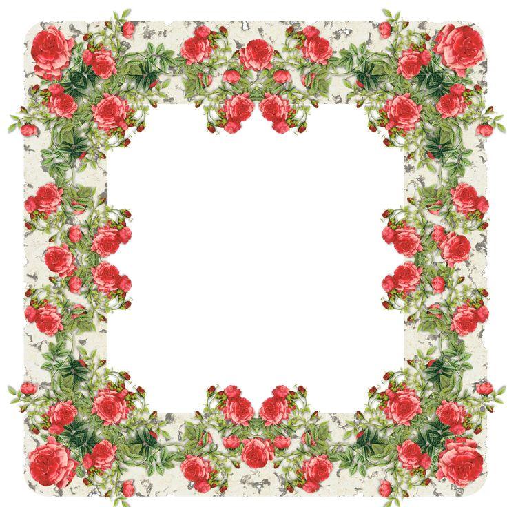 Rose Frame   free digital vintage rose frame II and journaling spot – Vintage ...