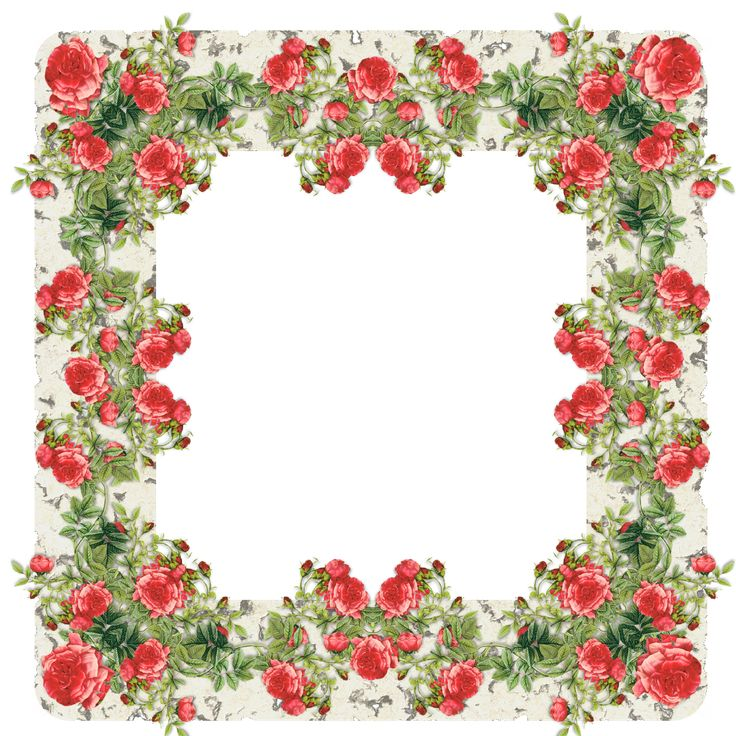 Rose Frame | free digital vintage rose frame II and journaling spot – Vintage ...