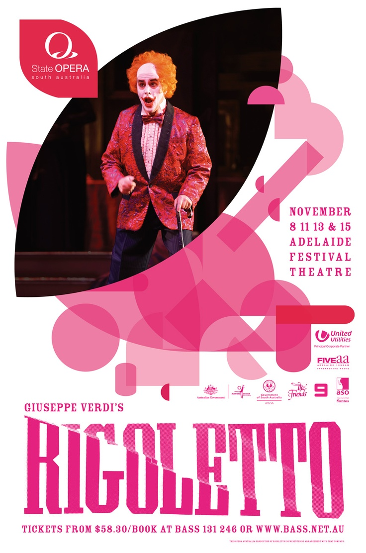 Poster for a performance of Rigoletto. Designed by Chay O'Rourke