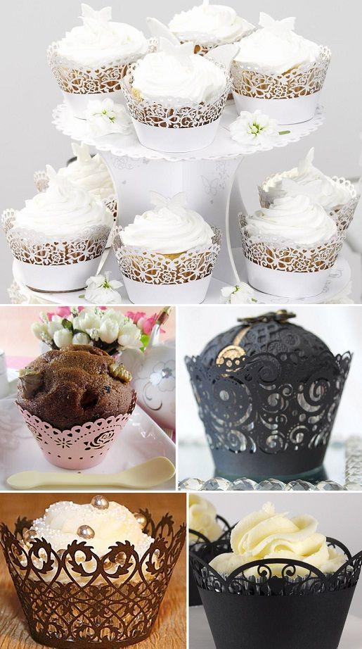 Decor de festa - cupcakes: Cupcakes Liner, Festa Cupcakes, Cupcake Rendada, Cupcakes Rendada, Chocolates Cupcakes, Cupcakes Holders, De Cupcakes, Cupcakes Wrappers, Cupcakes Rosa-Choqu