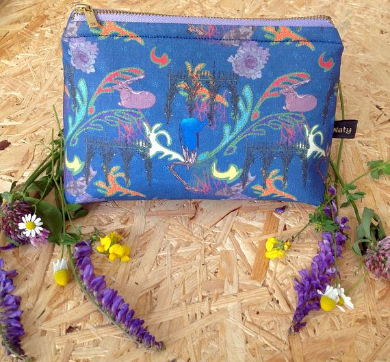Handmade dreams of Kromeriz small cosmetic bag
