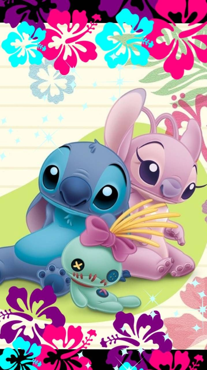 Stitch angel scrump | Cute disney wallpaper, Stitch and ...