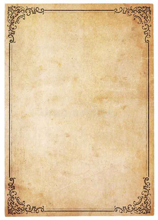 Blank Antique Paper With Vintage Border Aged Yellowing Paper With Stains And S Sponsored Aged Borde Antique Paper Old Paper Background Vintage Borders