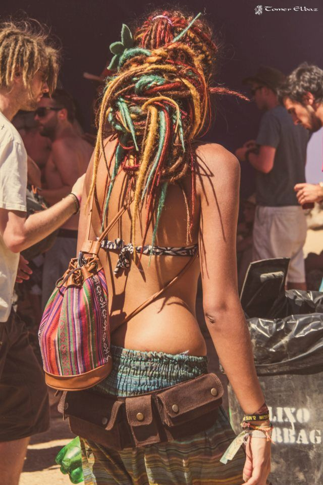 Love her colors in her dreads