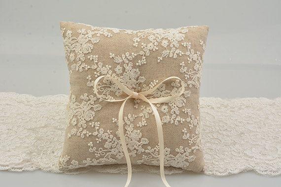 rustic ring bearer pillow linen ring bearer pillow by janebridal