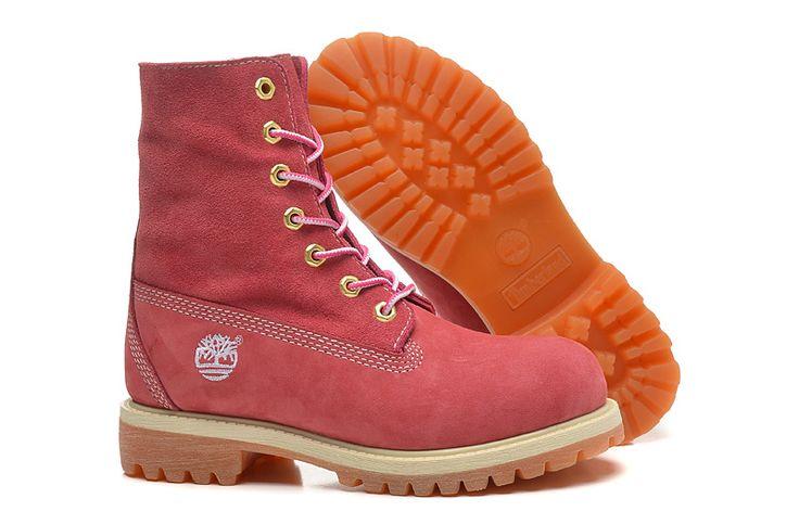 Timberland Womens Pink Leather Boots,Fashion Winter 2016 New Timberland Women Boots