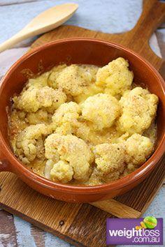 Cauliflower Gratin #HealthyRecipes #DietRecipes #WeightlossRecipes weightloss.com.au