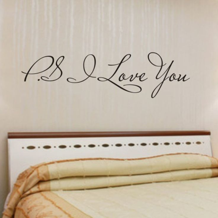 PS I Love You Wall Sticker //Price: $6.99 & FREE Shipping //     #housedecoration