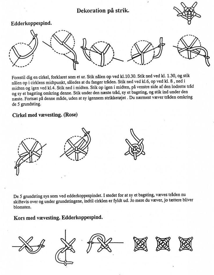 Edderkoppespind, cirkel og kors med vævesting.