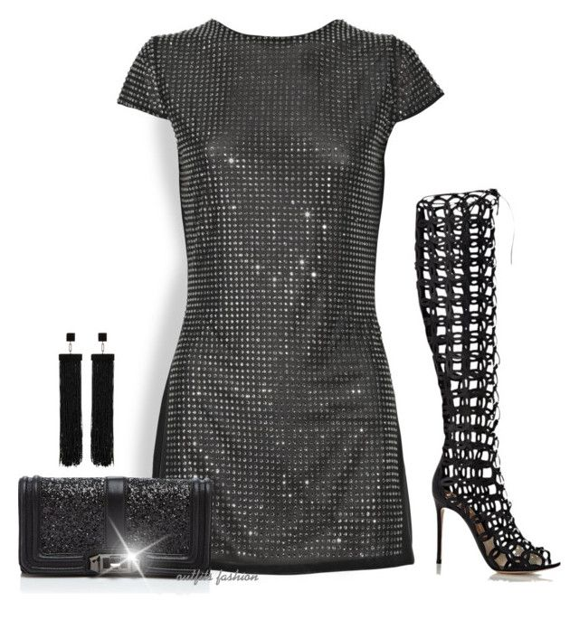 Rockstar by rosipolooyas on Polyvore featuring moda, Bodyamr, Gianvito Rossi, Rebecca Minkoff and Tom Ford