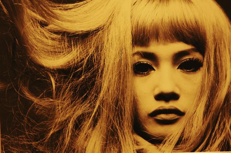 写真家 : 秋山庄太郎さんの作品。 モデル : 加賀まりこ ※ 2012.9/12 横浜美術館にて