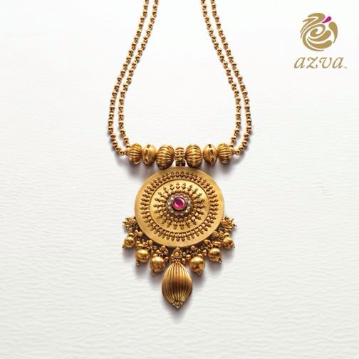 Azva - Gold Pendant Necklace