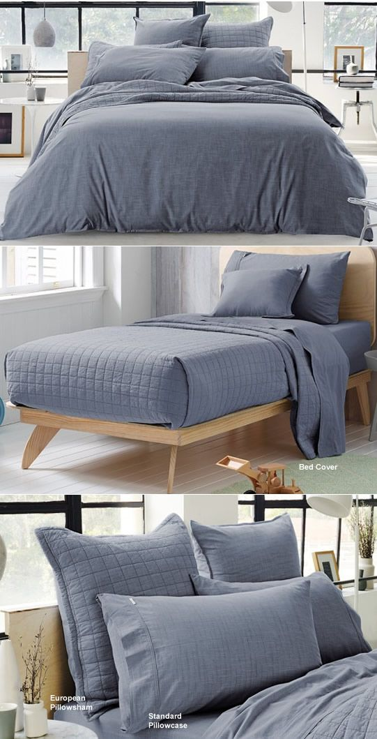 Reilly Atlantic King Bed Cover (240 x 260cm) by Sheridan  - Cottonbox