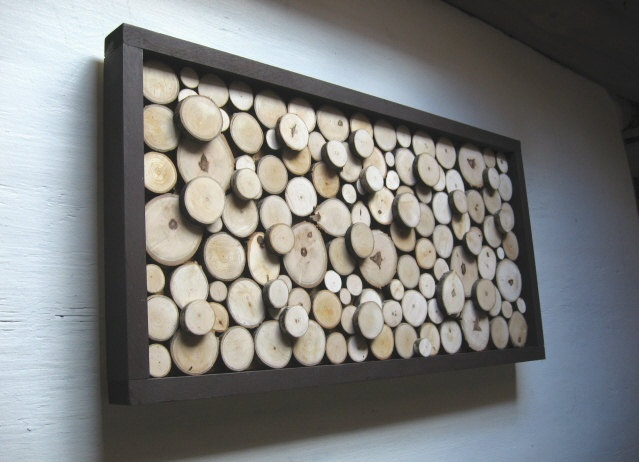 Rustic Wood Slice Sculpture - 13x24 Made To Order. $144.00, via Etsy.