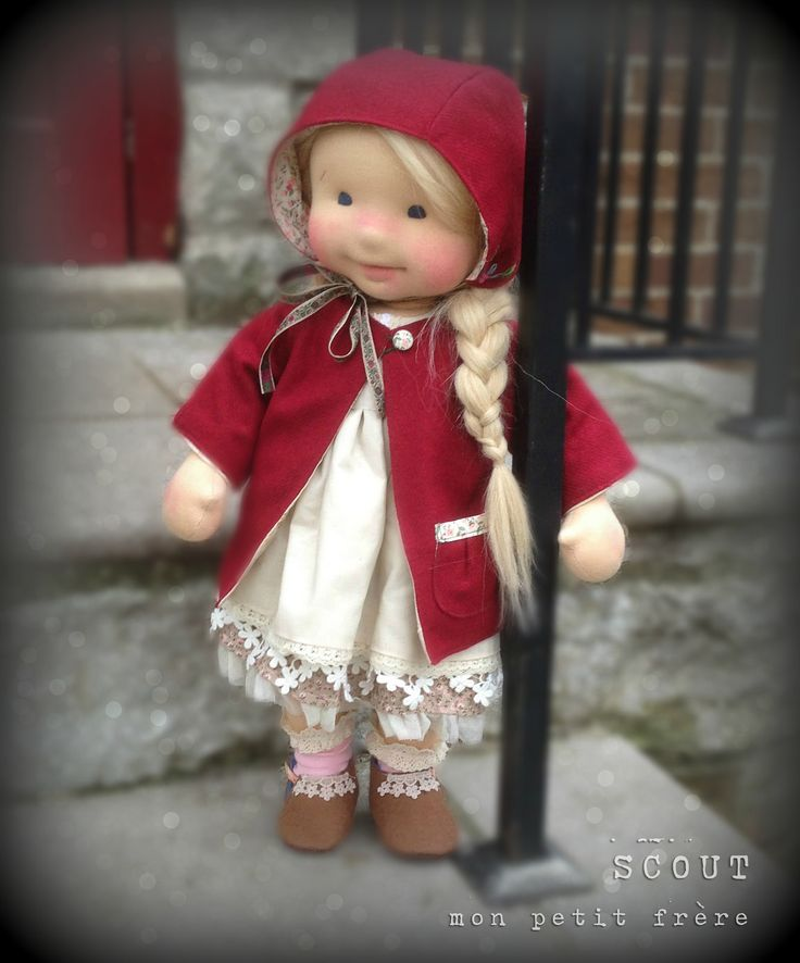 Scout- handmade natural fiber doll by Mon Petit Frère