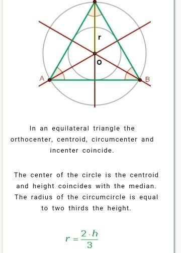 how to find the radius of a inscribed circle