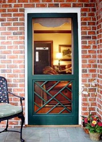 Wood Swinging Screen Door Dreamy Decor Pinterest