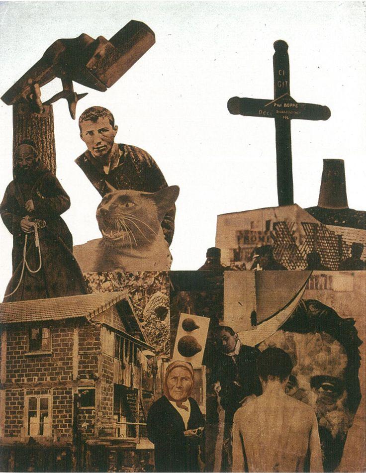 Vajda Lajos Fotómontázs szerzetessel 1930-33