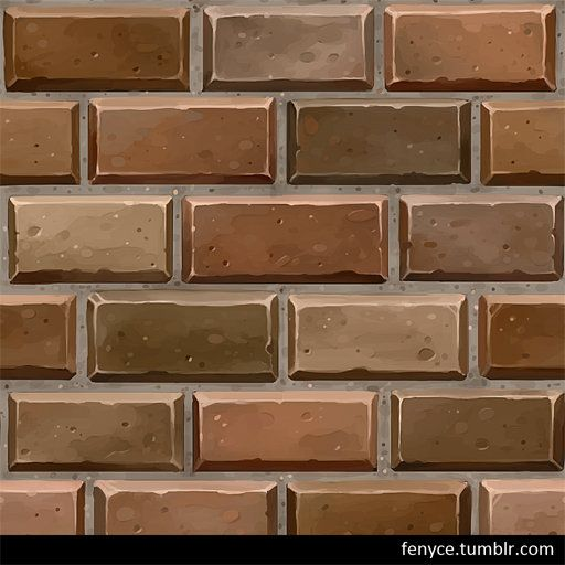 ArtStation - Hand Painted Brick Textures, Bianca Tholen