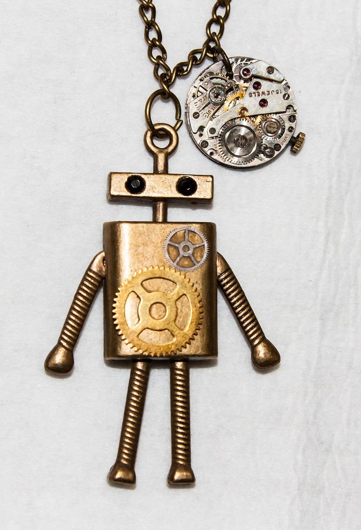 Steampunk Robot Necklace Fabulous Amp Funky Finds