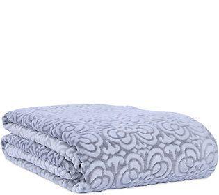 Berkshire Blanket Tile Floral Velvet Soft KingBed Blanket