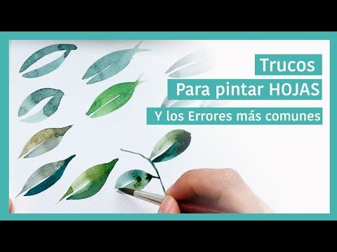 Trucos para Pintar HOJAS con ACUARELAS Guache, Watercolor Paintings, Watercolors, Art Lessons, Paint Colors, Decoupage, Mixed Media, Herbs, Youtube