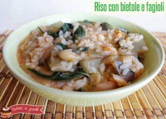 minestra di riso con bietole e fagioli cannellini ricetta primo gustoso