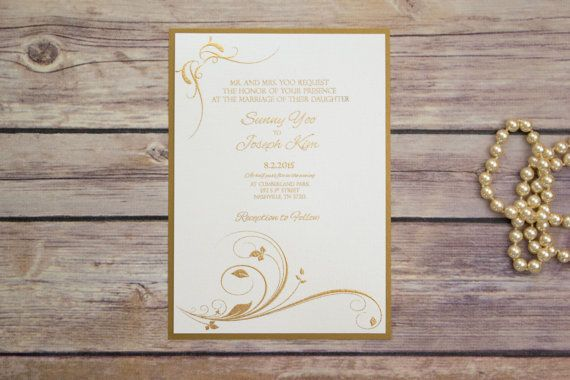 Pearl White and Gold Fancy Elegant Wedding by NashvillePaperCo