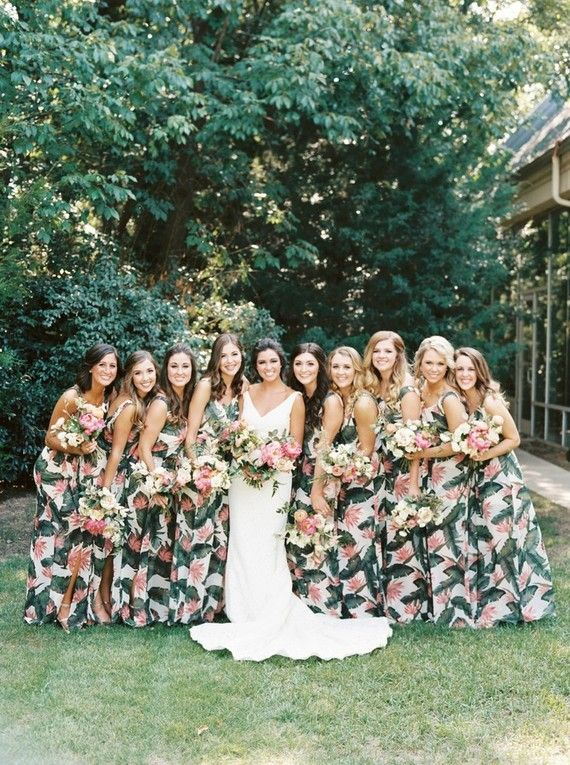 Tropical Print Bridesmaid Dresses Printed Bridesmaid Dresses Tropical Wedding Dresses Floral Bridesmaid Dresses